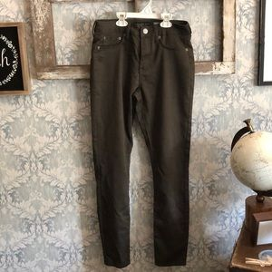 Olive green high wasted jeggings